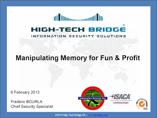 Manipulating Memory for Fun and Profit by Frédéric Bourla  – High-Tech Bridge