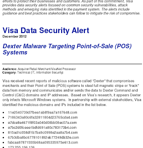 Point-of-Sale Malware: Infostealer.Dexter