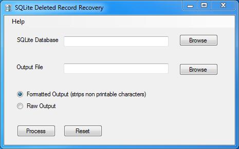 SQLite Deleted Data Parser – GUI Added